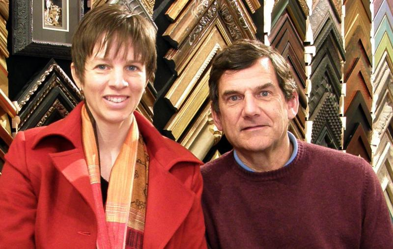 David Osann & Heather Barker love custom picture framing!